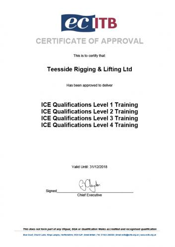 ICE Comp Approval Certificate 2018
